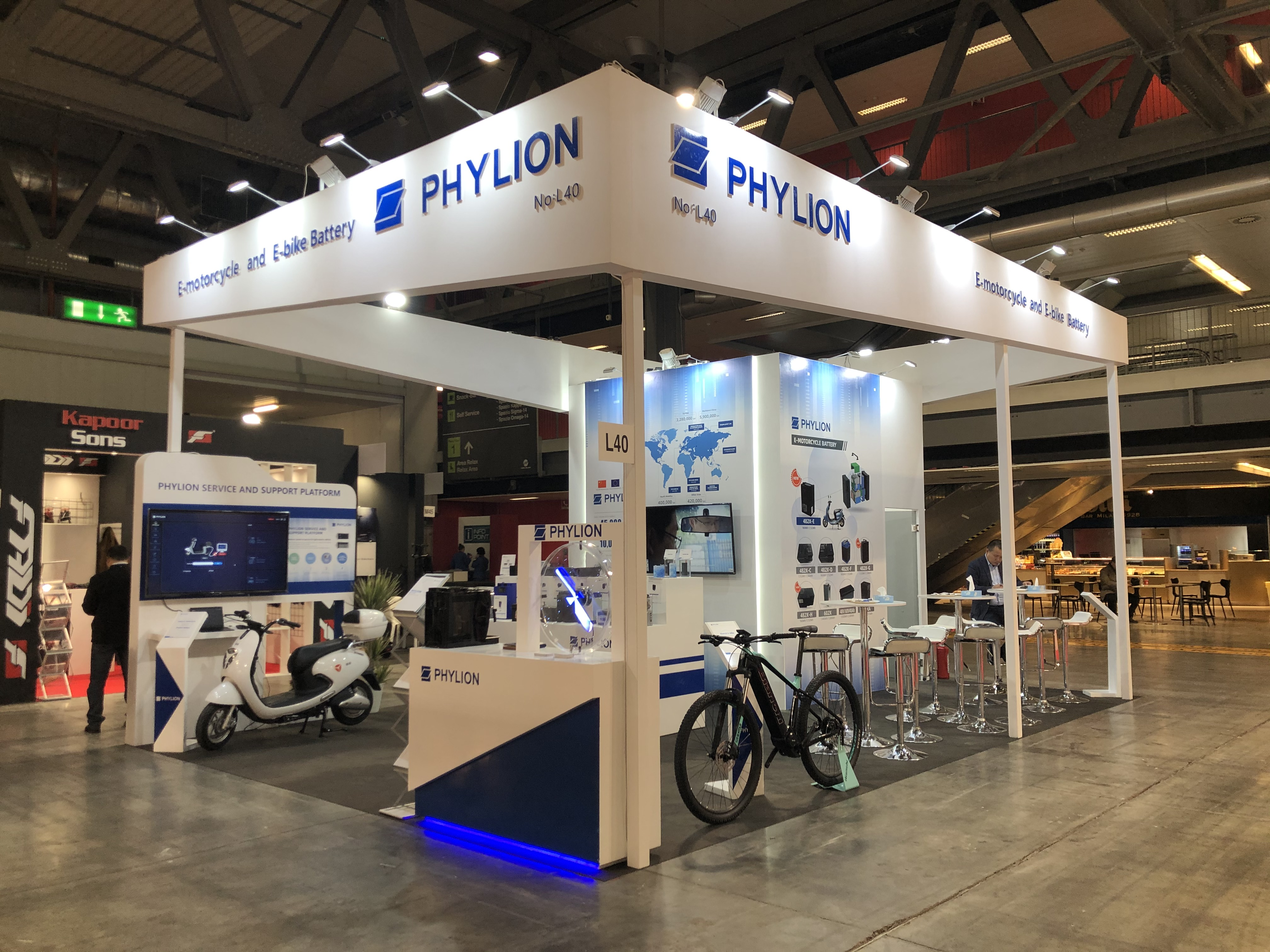 Phylion Battery Expanded the Oversea Business at Milan EICMA Show